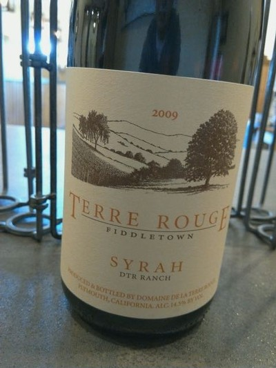 2010 TERRE ROUGE Syrah, DTR Ranch