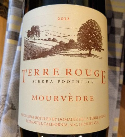 2012 TERRE ROUGE Mourvedre