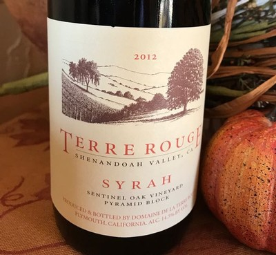 2012 TERRE ROUGE Syrah, Sentinel Oak Vineyard, Pyramid Block