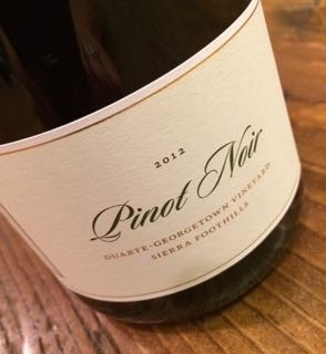 2012 EASTON Pinot Noir, Sierra Foothills