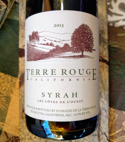 2013 TERRE ROUGE Syrah, California