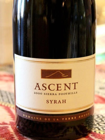 2000 TERRE ROUGE Syrah, ASCENT, Sierra Foothills