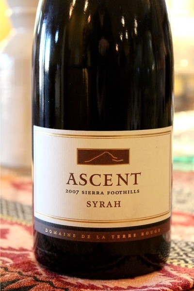 2007 TERRE ROUGE Syrah, ASCENT, Sierra Foothills