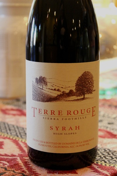 2013 TERRE ROUGE Syrah, High Slopes, Sierra Foothills