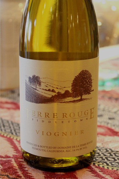 2017 TERRE ROUGE Viognier, Rice-MacDonald Vineyard, Fiddletown, Organic
