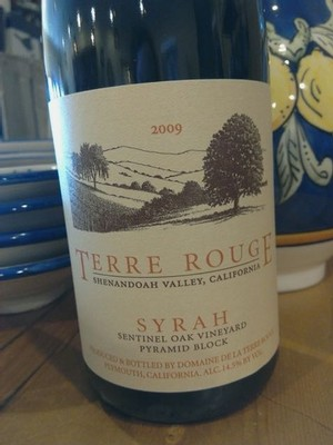 2010 TERRE ROUGE Syrah, Sentinel Oak Vineyard
