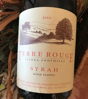 2012 TERRE ROUGE SYRAH, High Slopes
