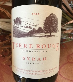 2012 TERRE ROUGE Syrah, DTR Ranch
