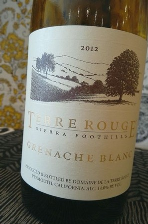 2012 TERRE ROUGE Grenache Blanc Image