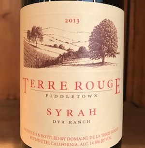 2013 TERRE ROUGE Syrah, DTR Ranch