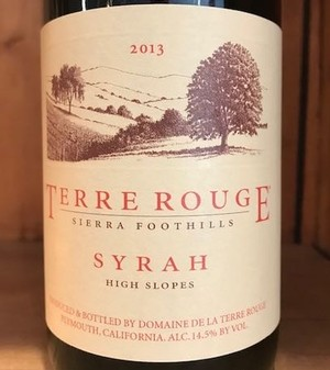 2013 TERRE ROUGE SYRAH, High Slopes