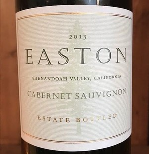 2013 EASTON Cabernet Sauvignon, Estate