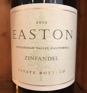2013 EASTON Zinfandel, Estate, Shenandoah Valley