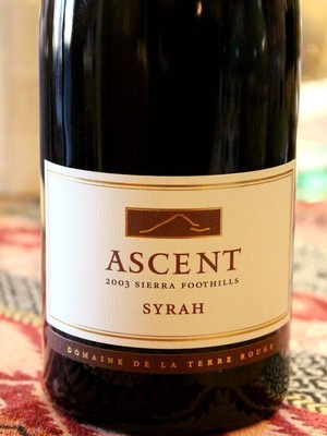 2003 TERRE ROUGE Syrah, ASCENT, Sierra Foothills