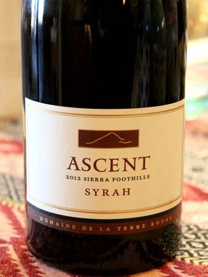 2012 TERRE ROUGE Syrah, ASCENT, Sierra Foothills