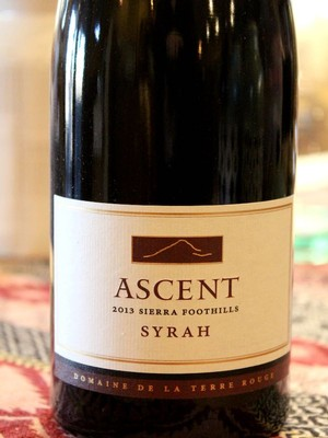 2013 TERRE ROUGE Syrah, ASCENT, Sierra Foothills