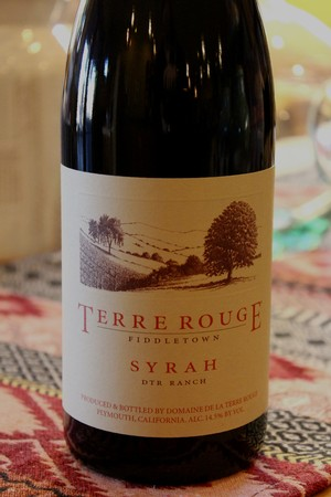 2013 TERRE ROUGE Syrah, DTR Ranch, Fiddletown, Organic