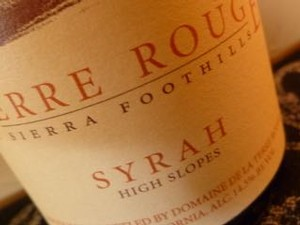 TERRE ROUGE Syrah, High Slopes Vertical